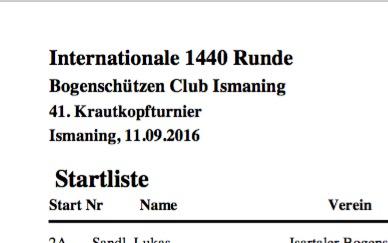 Startliste 41. Krautkopfturnier online